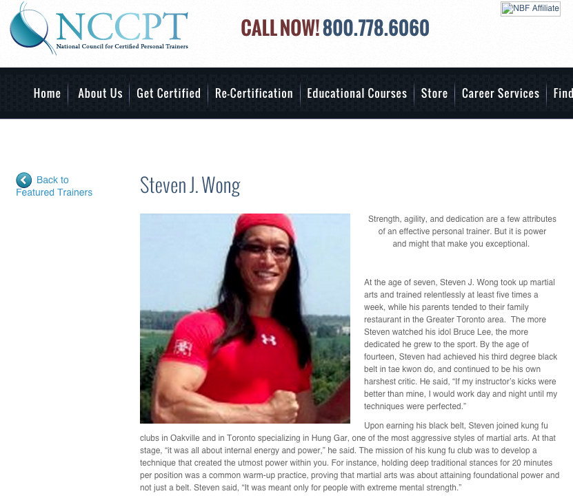 Proud to be featured by the National Council of Certified Personal ...